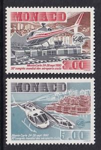Monaco  #1730-1731    MNH  1990   helicopters