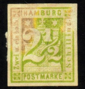HAMBURG,GERMAN STATE SC# 12 USED 2.5s 1864   SEE SCAN