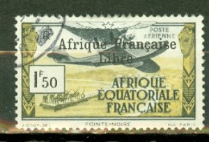 P: French Equatorial Africa C9 used CV $240