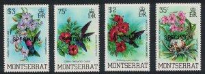 Montserrat Hummingbirds Birds 4v Specimen 1983 MNH SG#571-574