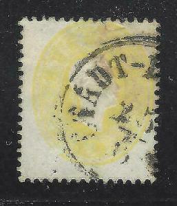 VEGAS - 1860-61 Austria - Sc# 12 - Franz Josef Stamp - Used - (DC10)