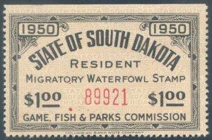 US South Dakota Scott #2a Mint, VF, Hinged