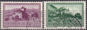 Liechtenstein  #126-7  F-VF Used   CV $12.00 (Z3168)