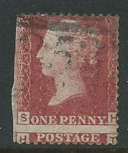 Great Britain - QV  SG 43 plate 76 miscut