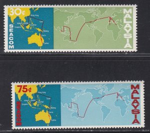 Malaysia #  42-43, SEACOM Cable Completion, NH, 1/2 Cat.