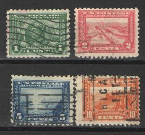 US 1904 Sc# 401-404 Used G/VG - Complete set Panama Pacific Expo perf 10