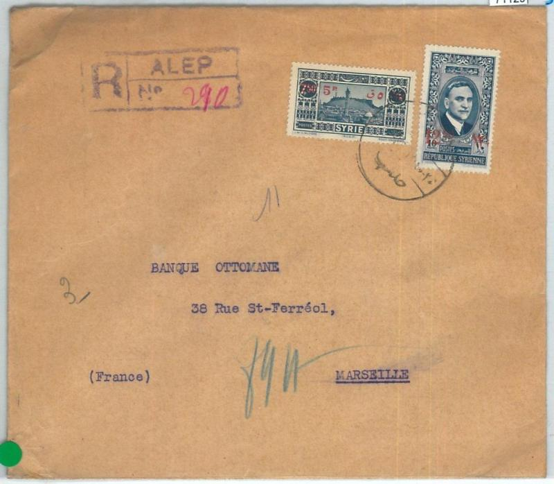 71129 - SYRIA - POSTAL HISTORY -   REGISTERED COVER  to FRANCE