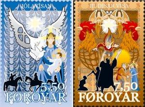 Faroe Islands 2005 #465-6 MNH. Christmas, carols