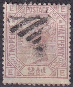 Great Britain #67 Plate 10 F-VF Used CV $75.00 Z37