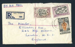 NIGERIA to ENGLAND 1959 Registered Cover ABA to LONDON