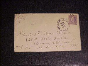 1918 NOV.28TH COVER EDWARD C. MACARTHER 125TH ARTILLERY DIV.