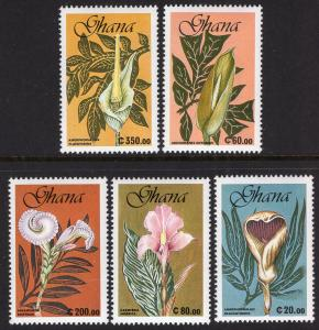 Ghana 1279-1283 Flowers MNH VF