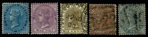 1873-76 India # 31-35 QV Watermark 38 - Used - VF - CV$57.00 (ESP#3839)