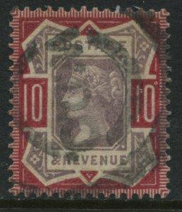 1887 QV Jubilee 10d struck by a light parcel cancel (40)