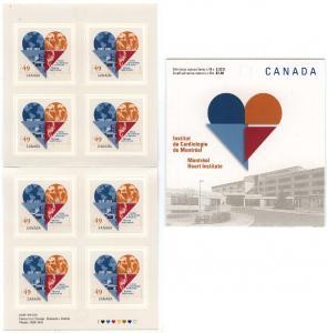 Canada - 2004 49c Montreal Heart Institute Booklet #BK296