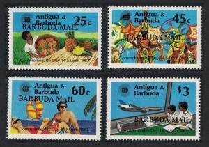 Barbuda Tourism Fruits Airplane Commonwealth Day 4v SG#654-657
