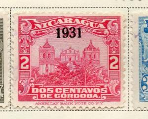 Nicaragua 1930 Early Issue Fine Used 2c. Optd 323673