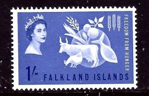 Falkland Is 146 MNH 1963 Freedom From Hunger    (ap3831)