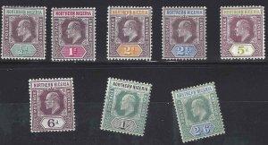 Northern Nigeria 1905 SC 19-26 Mint SCV $253.00 Set
