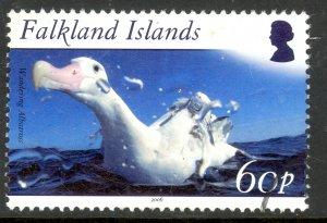 FALKLAND ISLANDS 2006 60p WANDERING ALBATROSS Birds Issue Sc 911 VFU