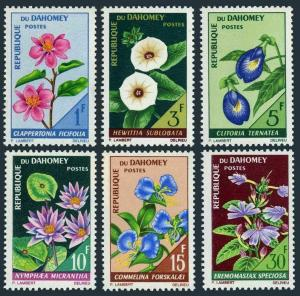 Dahomey 226-231,MNH.Michel 298-303. Flowers 1967.