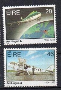 IRELAND - 1986 - 50th ANNIVERSARY OF AER LINGUS - PLANES -