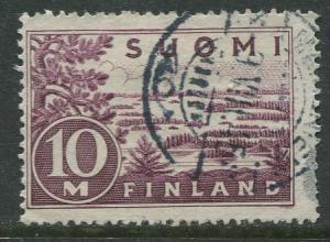 Finland - Scott 178 - Lake Saima -1930- FU - Single 10m Stamp