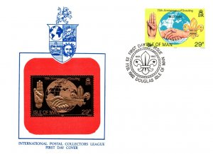 Isle of Man, Worldwide First Day Cover, Scouts