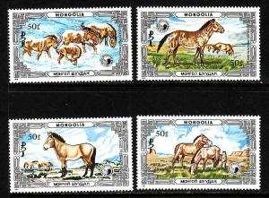 Mongolia MNH 1535-8 Przewalski's Horses