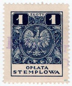 (I.B) Poland Revenue : Duty Stamp 1z