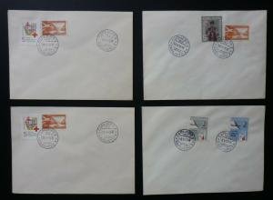 Yugoslavia Bosnia Sarajevo - 4 Red Cross Covers ! N6