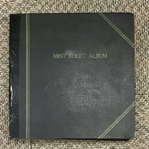 Used mint sheet album