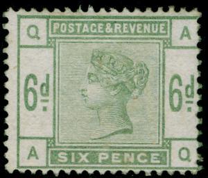 SG194, 6d dull green, LH MINT. Cat £625. AQ