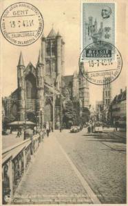 Belgium 90c+60c Edouard Anseele Semi-Postal 1948 Gent Salon Leopold I 1000 Ja...