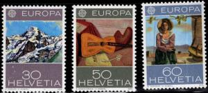 Switzerland Scott 603-605 MNH** 1975 Europa stamp set