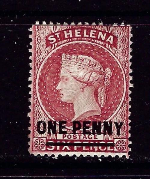 St Helena 35 No Gum 1887 issue