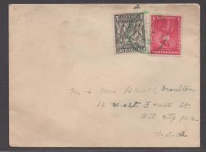 *Newfoundland Cover # 184, 189 to Pennsylvania, Green Cancel