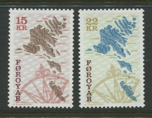 STAMP STATION PERTH Faroe Is.#377-378 Pictorial Definitive  MNH 2000 CV$13.00