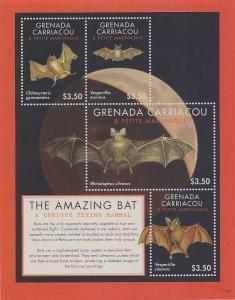 Grenada Grenadines - 2013 The Amazing Bat 4 Stamp Sheet GRS1309H