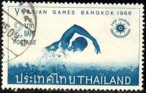 Swimminig 5th Asian Games Bangkok 1966, Thailand SC#447 used