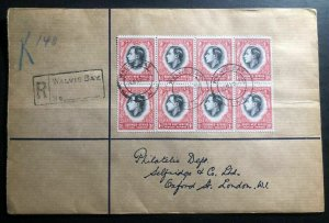 1938 Walvis Bay South West Africa Cover To London England Coronation Stamp B