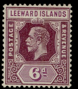 LEEWARD ISLANDS GV SG86, 6d dull & bright purple, M MINT. Cat £35.