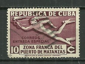 1936 Cuba Special Delivery Matanzal issue used