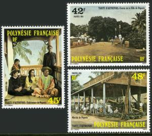 Französisch Polynesien 414-416, Mnh.early Tahiti.entrance zu Papeete, Girls,