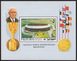 Fujeira Mi Block 27A (#550) mnh s/s- 1970 FIFA World Cup Mexico - Azteca Stadium