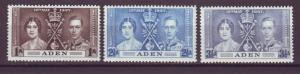 J20863 Jlstamps 1937 aden set mnh #13-5 coronation