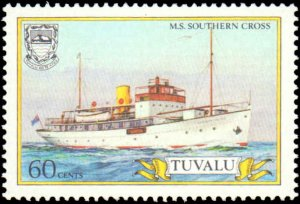 Tuvalu #410-413, Complete Set(4), 1987, Ships, Never Hinged