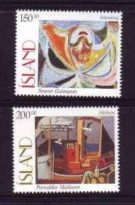 Iceland Sc 836-7 1997 Paintings stamp set mint NH