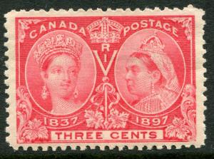 CANADA  #53 F-VF Light Hinged Issue - QUEEN VICTORIA 60 YEARS JUBILEE - S6213