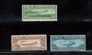 USA #C13 #C14 #C15 Mint Fine - Very Fine Full Original Gum Cleanly Hinged Set